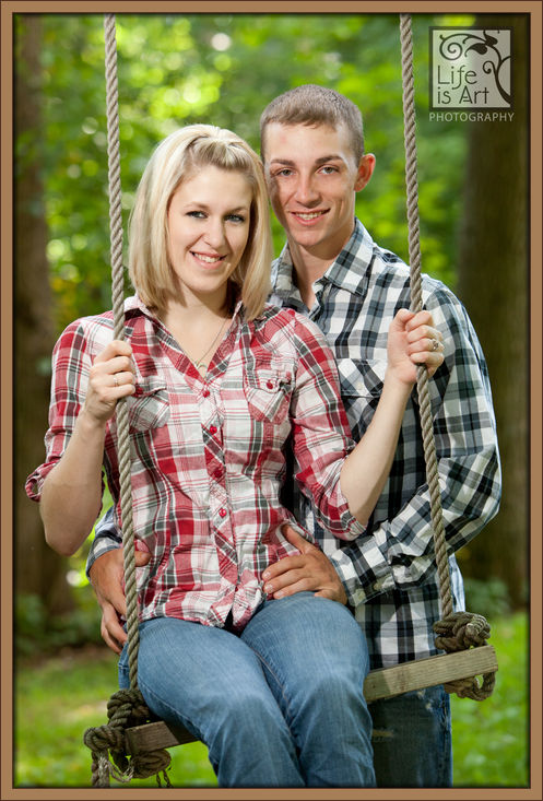 Birnamwood engagement photo