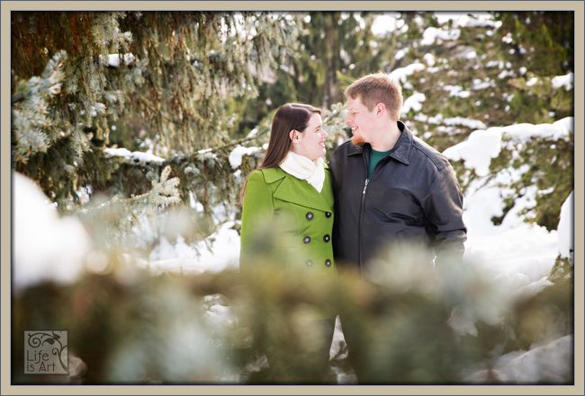 Madison WI winter engagement session